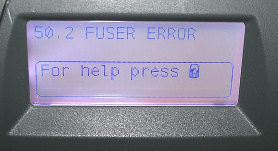 HP Error Codes on an HP Laser Printer